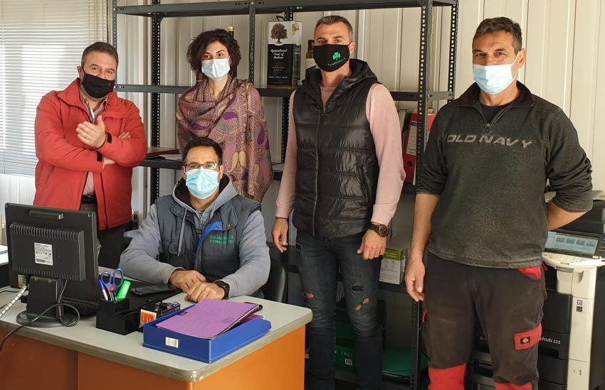 Επίσκεψη Αραχωβίτη στον Αγροτικό Συνετερισμό  Κροκεών