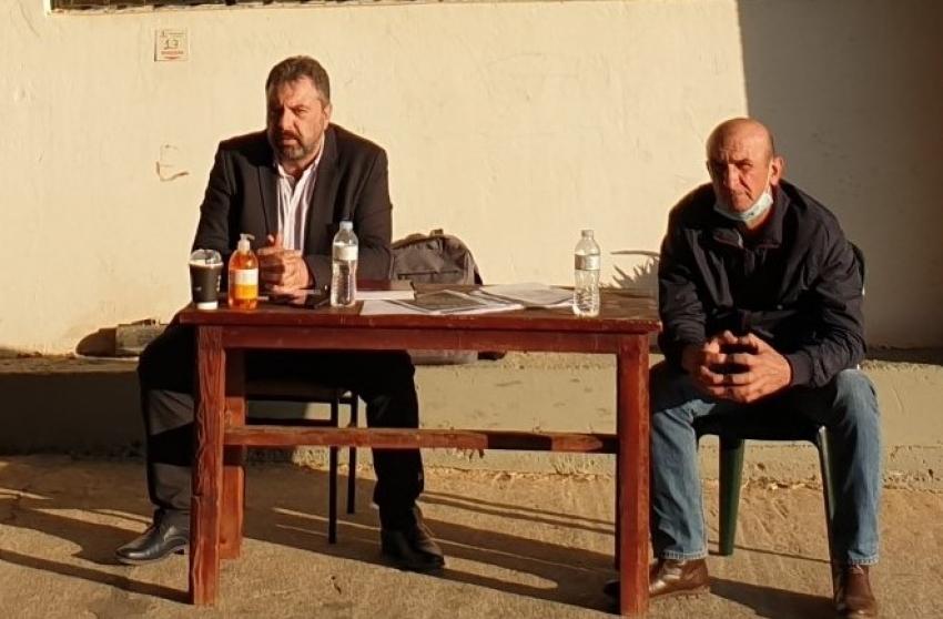 """Επίσκεψη Στ. Αραχωβίτη στον Α.Σ Γερακίου: """"Δεν χωράνε μικροκομματικές πολιτικές και τοπικισμοί στην ελιά Καλαμάτας"""""""