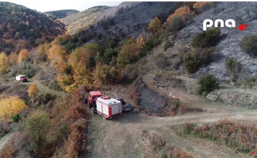 Η φωτιά στον Άγιο Πέτρο Κυνουρίας (Drone Video))