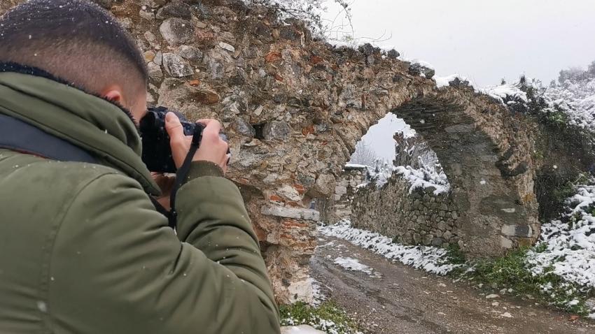 Ο χιονισμένος Μυστράς και Ε.Ο Σπάρτης - Τρίπολης (video)