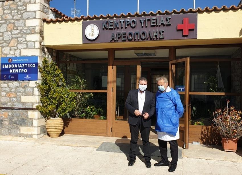 Επίσκεψη Στ. Αραχωβίτη στο Κ.Υ Αρεόπολης