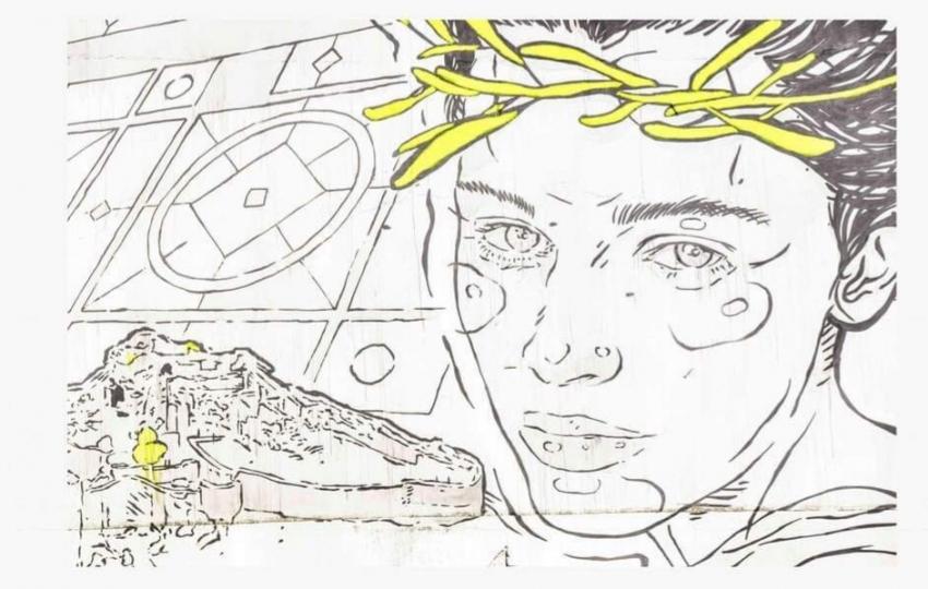 Δημιουργία του καλλιτέχνη Same84 στο κτήριο 2ου Γυμνασίου – 2ου ΓΕΛ Σπάρτης