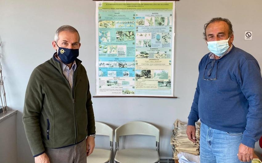 Δαβάκης: Στον ΕΛΓΑ Τριπόλεως για τις αποζημιώσεις των Λακώνων παραγωγών