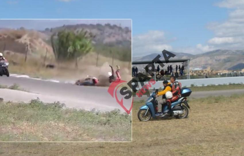 Σοβαρό ατύχημα σε αγώνα ταχύτητας και μεταφορά του τραυματία με βεσπάκι (video – φωτό)